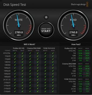 macbook pro 16 disk speed